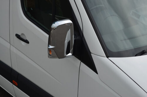 2006-16 Chrome Wing Mirror Trim Set couvre pour s/'adapter VOLKSWAGEN CRAFTER