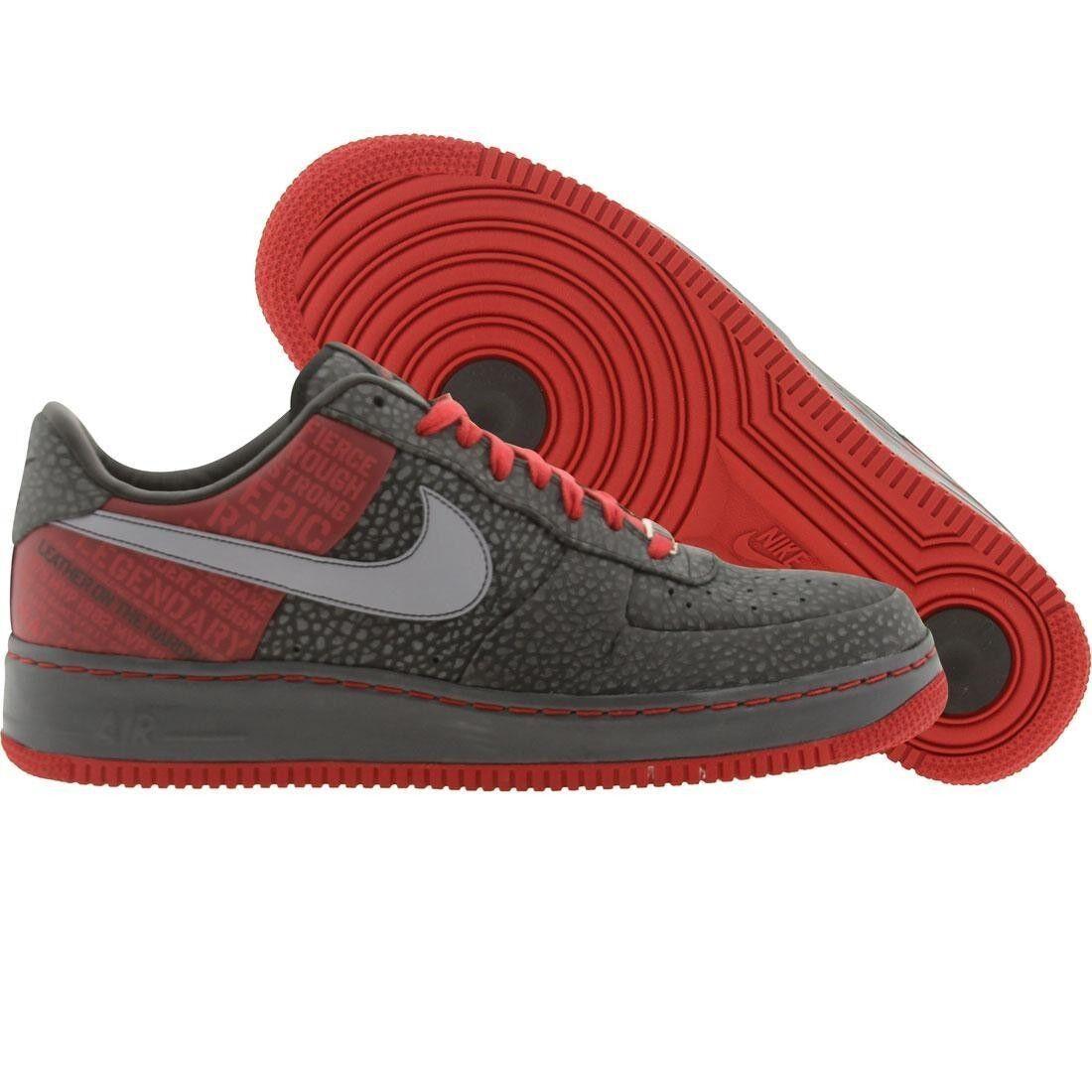315089-001 Nike Air Force 1 Faible Supreme 07 Original Six-Moses Malone Noir Rouge