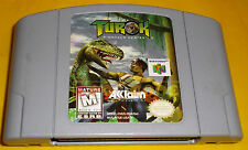 TUROK DINOSAUR HUNTER Nintendo 64 N64 Versione Americana NTSC ○○○ SOLO CARTUCCIA