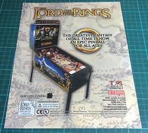 Stern Lord Of The Rings Arcade Pinball Flyer, Advert