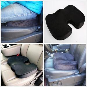Sciatica Cushion For Office Chair Memory-Foam-Coccyx-Car-SUV-Office-Chair-Seat-Cushion-Back-Lumbar-Pain ...
