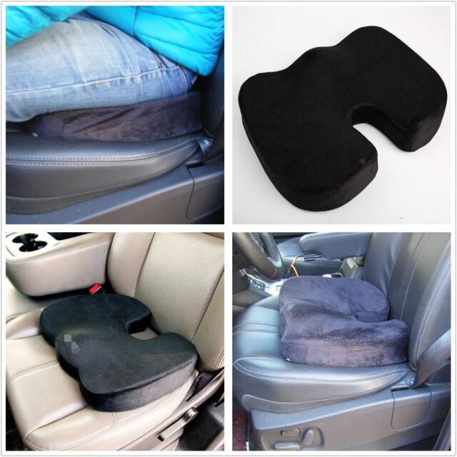 Memory Foam Coccyx Car SUV Office Chair Seat Cushion Back Lumbar Pain Relief Pad