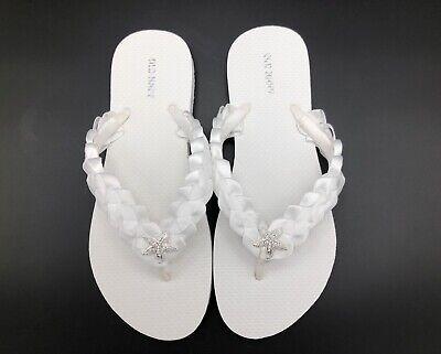 ivory flip flops
