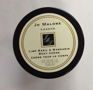 NEW-Jo-Malone-Lime-Basil-amp-Mandarin-Deluxe-Body-Creme-Sample-0-5oz-15ml-Cream