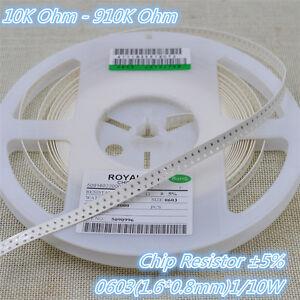 100pcs 1206 SMD Resistor 91K ohm 5/% RoHS