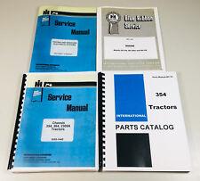 International 354 Tractor Service Repair Shop Manual Parts Catalog Set Complete