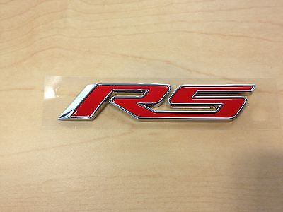 OEM NEW RS Front Right or Left Door Emblem Nameplate Red 11-16 Cruze 22877479