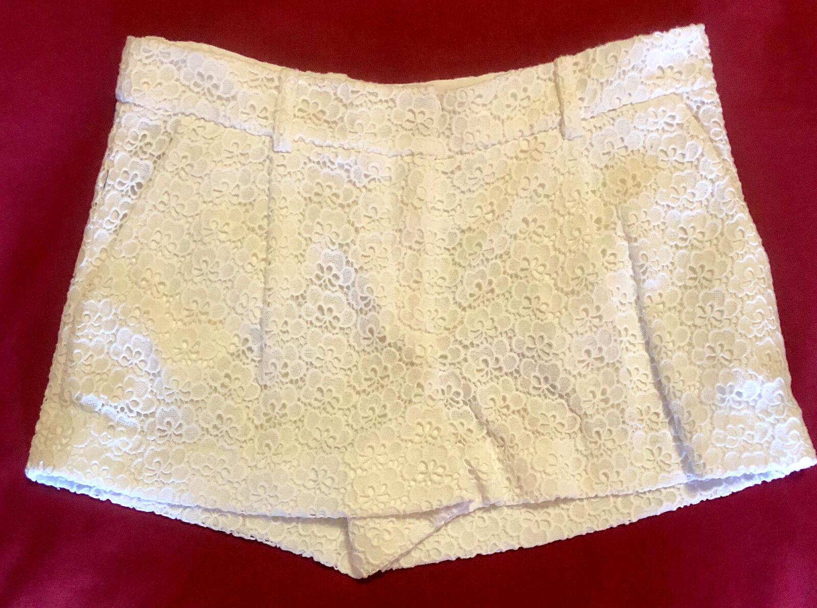 Diane von Furstenburg Intermix White Lucy Acorn Floral Dress Shorts sz 8 NWT
