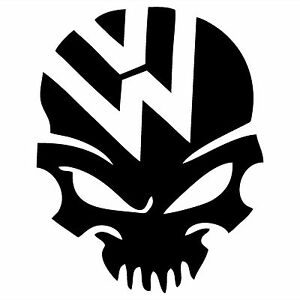 Volkswagen Skull Bone Vw Sticker Vinyl Decal Car Bumper Ebay