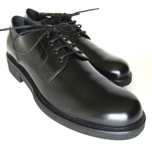 S2190119 New Tods Derby Black Patent LaceUp Shoes Size US 11.5marked 10.5
