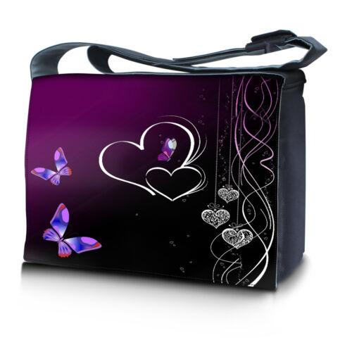 15 15.6 14 inch Laptop Computer Padded Compartment Shoulder Strap Messenger Bag