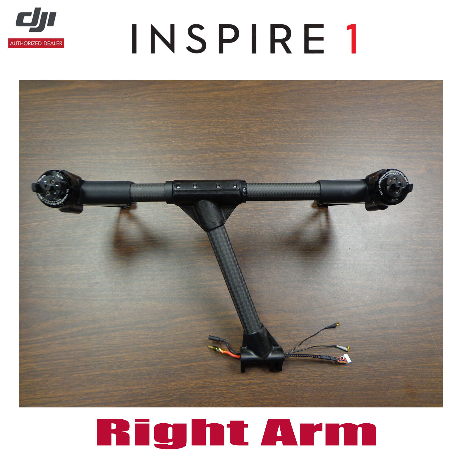 DJI Inspire 1 Pro V2.0 Right Arm Carbon Fiber Boom,3510 H Motor,ESC,Landing Gear