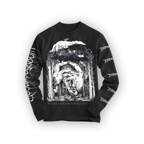 """Woods Of Ypres /""""Woods 5 NEW Grey Skies /& Electric Light/"""" Long Sleeve T shirt"""