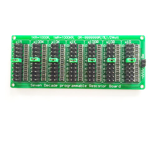 9999999R Seven Decade Programmable Resistor Board Step 1/% 1//2W ASS NEWs 1R