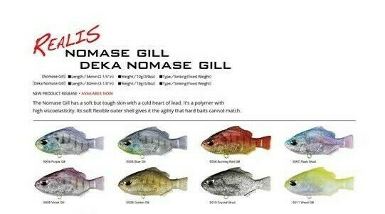 Duo Soft Lure Realis Deka Nomase Gill 5009-8142