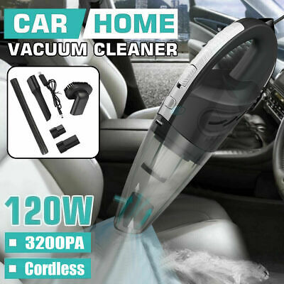 Cordless Wet /& Dry Car Vacuum Cleaner Handheld Rechargeable Home Pet Hair 120W