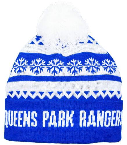 Queens Park Rangers FC   Snow Wooley Bobble Hat QPR FC Thick Beanie Hat