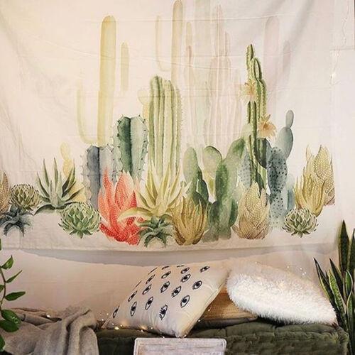 Sunshine Cactus Tapestry Wall Hanging for Living Room Desert Bedroom Dorm Decore