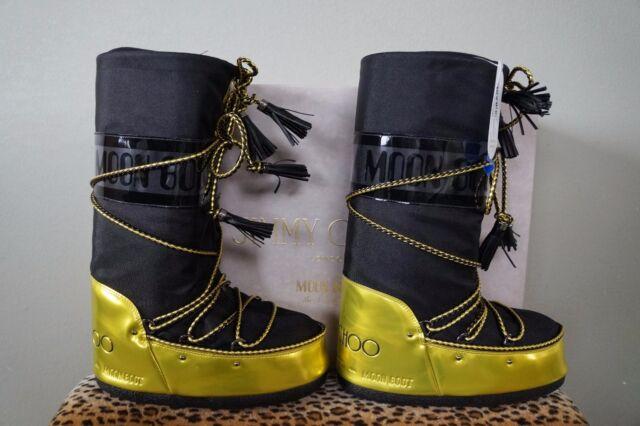 0d083b30e3f ... coupon jimmy choo classic mirror acid yellow black moon boots us 7 8  nib nwt cdc37