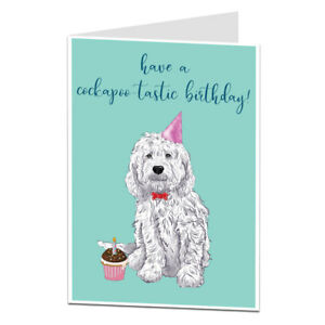 Image Is Loading Dog Birthday Card Cockapoo Things Stuff Pet Theme