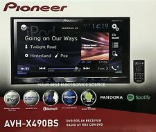 "NEW Pioneer AVH-X490BS 2-DIN Bluetooth DVD/CD/AM/FM Car Stereo 7"" Display"