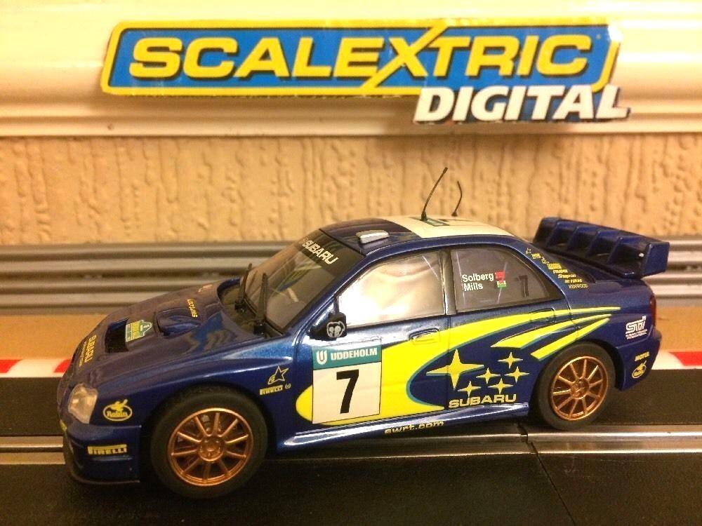 Scalextric Digital Subaru Impreza WRC Makinen No7 Solberg   Mills VGC