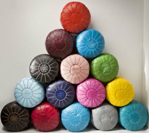 MOROCCAN-POUFS-Leather-Luxury-Ottomans-Footstools-White-Unstuffed-Best-Selling