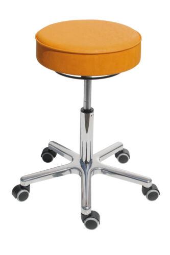 Sitz Kunstleder Mais//Gelb Dreh-Hocker Modell 3861.1 mit Rollen