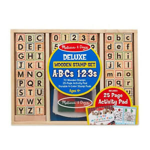 Melissa-And-Doug-Wooden-Deluxe-ABC-123-Stamp-Set-NEW-Toys