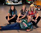 JOHN FORCE & DAUGHTERS NHRA FUNNY CAR DRAG RACE RACING 8X10 PHOTO - MUST HAVE!