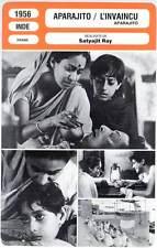 FICHE CINEMA : APARAJITO - Satyajit Ray 1956 - L'Invaincu