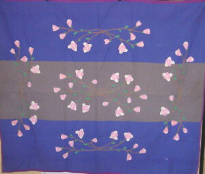 AMISH-BARS-APPLIQUE-QUILT-REVERSIBLE-RARE-LANCASTER-PA-BIG-VALLEY