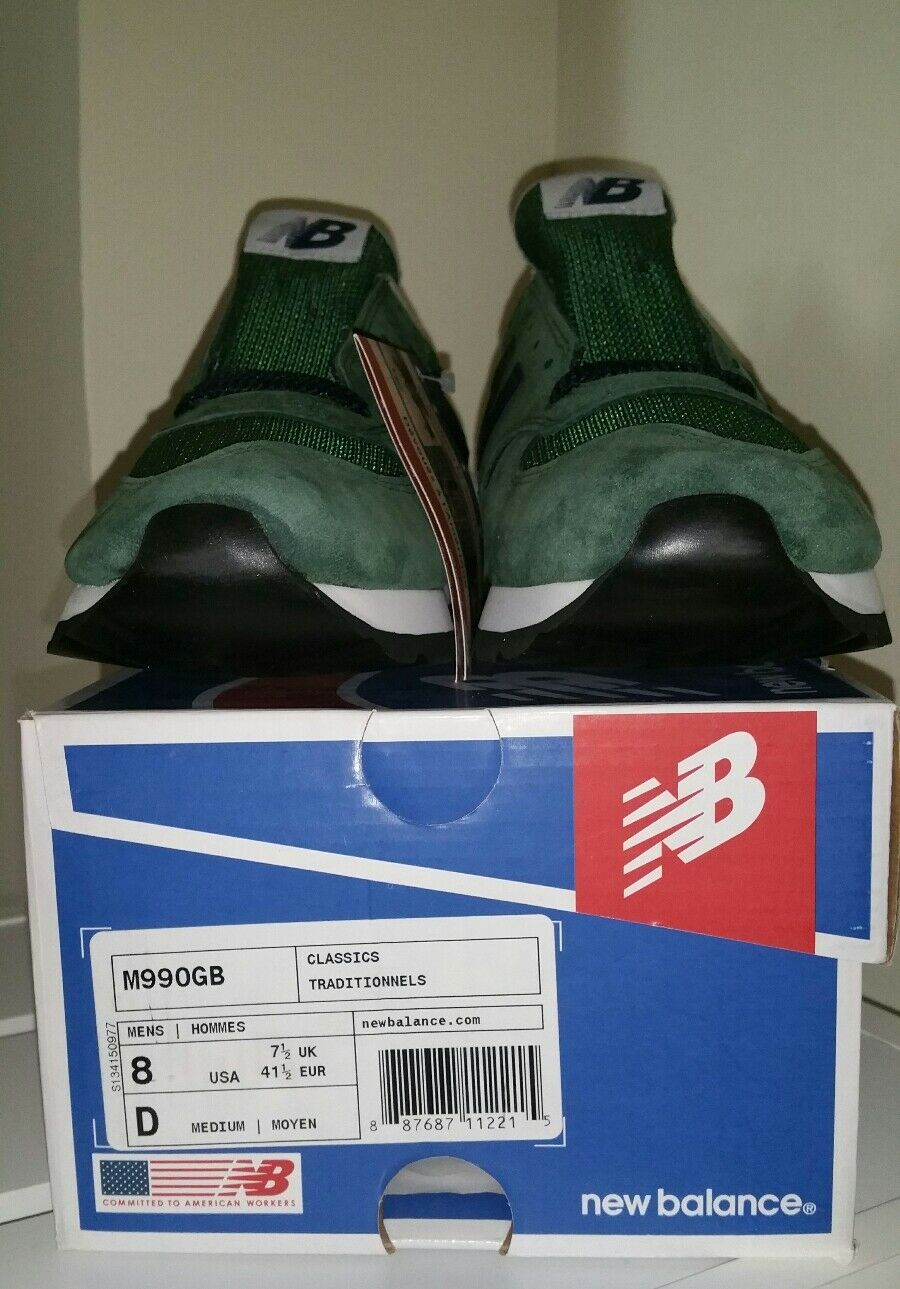 NEW BALANCE  M990GB GREEN BLUE CLASSIC TRADITIONAL TIMELESS