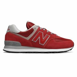 online store 85f1e 97b6e Details about New Balance 574 Team Red / ML574ERD / Men's NB 574 Suede Mesh  Grey Classic