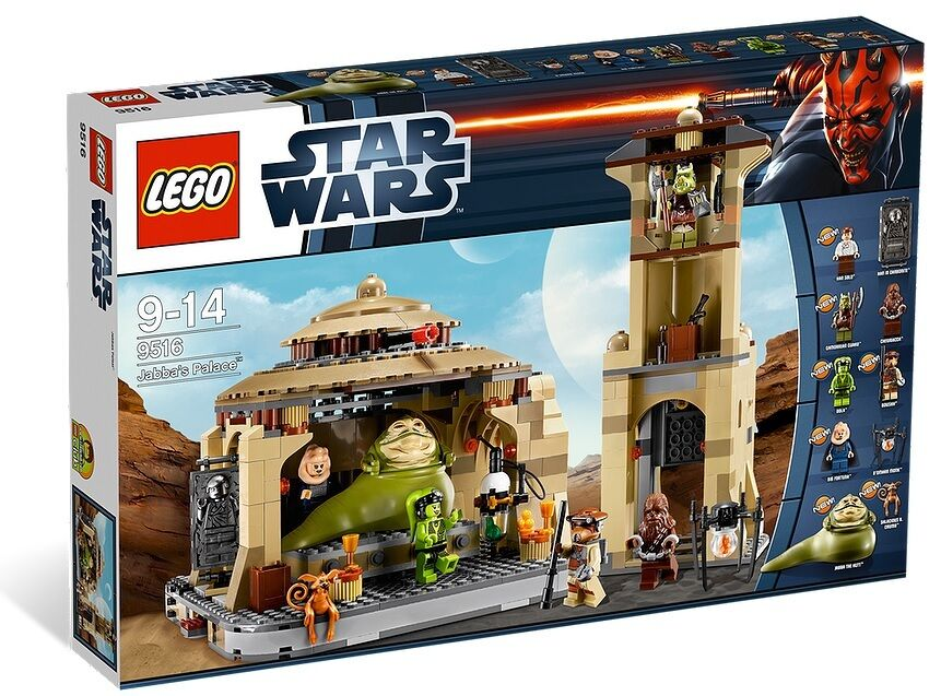 NEW SEALED LEGO JABBA'S PALACE Set 9516 nib nisb the hutt hut oola boush han