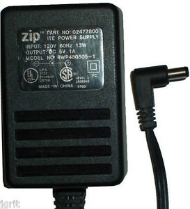 5v 1A 5 volt power supply RWP480505-1 ZIP IOMEGA 024778