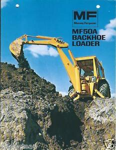Details about Equipment Brochure - Massey Ferguson - MF 50A - Backhoe  Loader - c1973 (E2477)