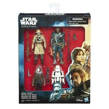 Star Wars Rogue One Jedha Revolt 4 Figure Set JYN Stormtrooper - Disney Hasbro