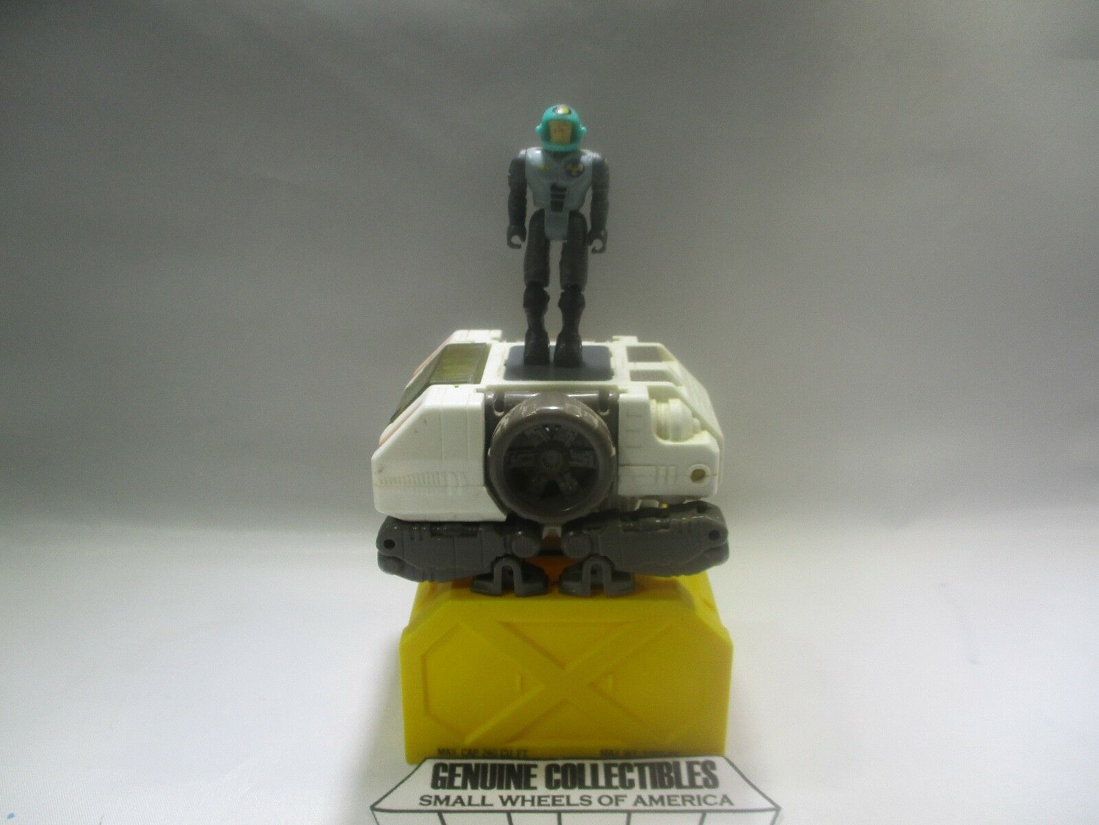 Vintage  Starcom BATTLE CRANE+CARGO BIN+Driver BOB ANDERS Coleco 1986  WORKS