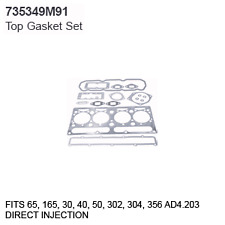735349M91 Massey Ferguson Parts Top Gasket Set 65, 165, 30, 40, 50, 302, 304, 35