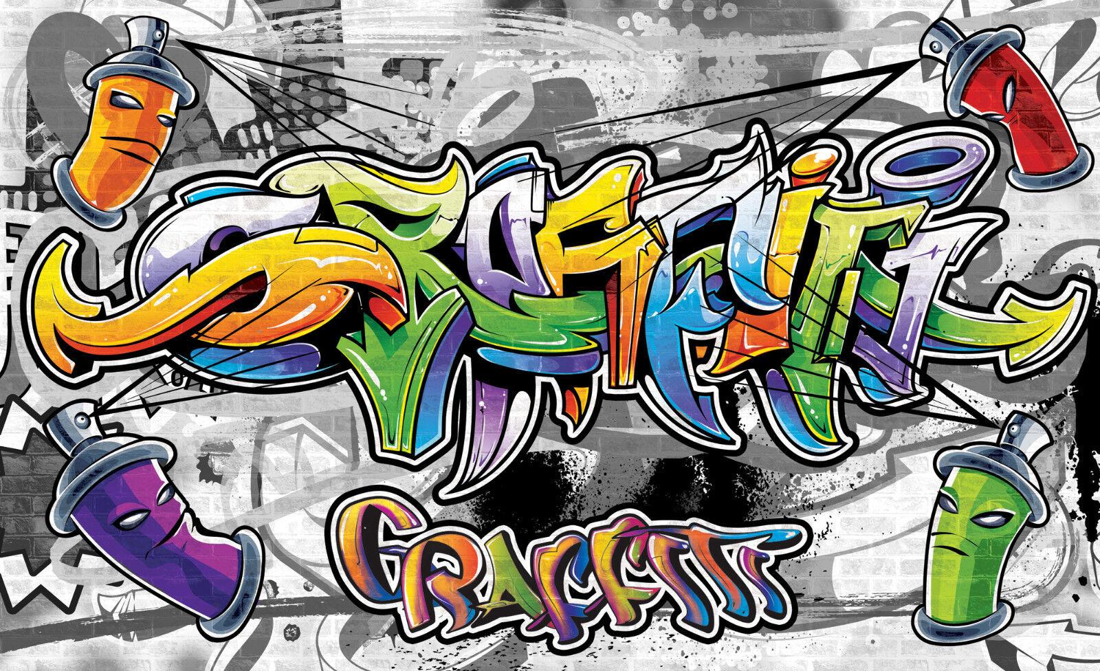 VLIES Fototapete-GRAFFITI-(2295)-Straßen-Kunst Design Deco Street-Art Abstrakt
