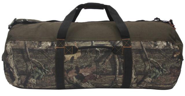 "Mossy Oak Camouflage Camo Heavy-Duty 42"" Barrel/Camp/Outdoor/Hunting Duffel Bag"
