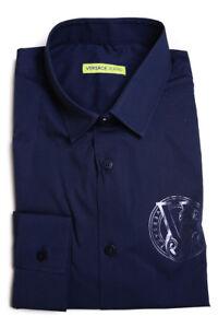 dd0ea9b710 Camicia Versace Jeans Shirt EXTRASLIM Cotone Uomo Blu ...