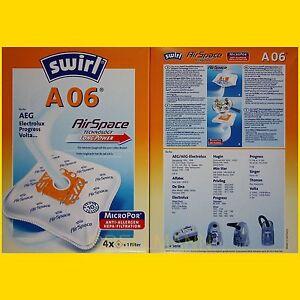 4-Beutel-Swirl-A-06-MicroPor-Staubsaugerbeutel-A06-frei-Haus-per-Warensendung