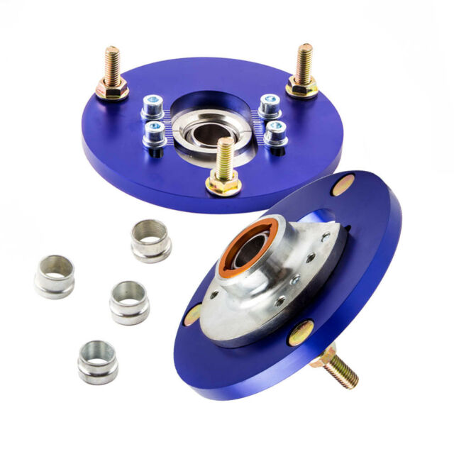 Blue Camber Plate For BMW E46 3 Series 98-05 Front Coilover Top Upper Mount Pair