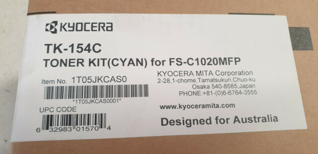 Genuine Kyocera TK 154C Cyan Toner, Brand New See Photos