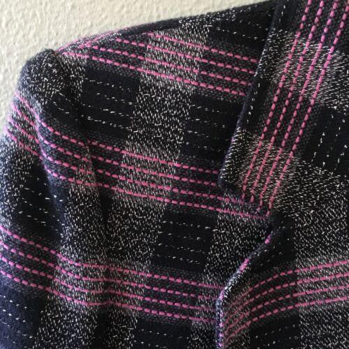 carreaux rose Nordstrom carreaux 8 avec à de Taille vue métallisé point Veste noir à Blazer r71R7qI