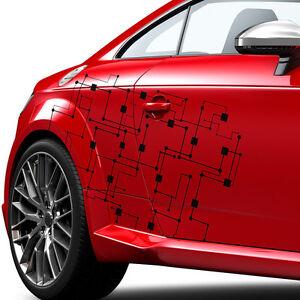 Seitendekor-Auto-Aufkleber-Abstrakt-Cyber-Pixel-Schaltkreis-Sticker-1284-100