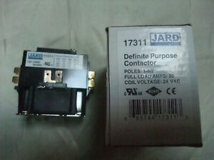Mars 17315 Definite Purpose Contactor 30 amp 1-1//2 pole Coil 24 VAC New Jard