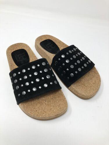 LFL America Black Suede Sandal Slide Size 5 Studs 1569